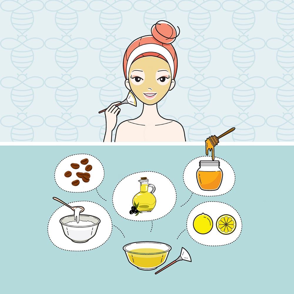 Gesichtsmaske mit Manuka Honig Pflege Feuchtigkeit DIY frombee