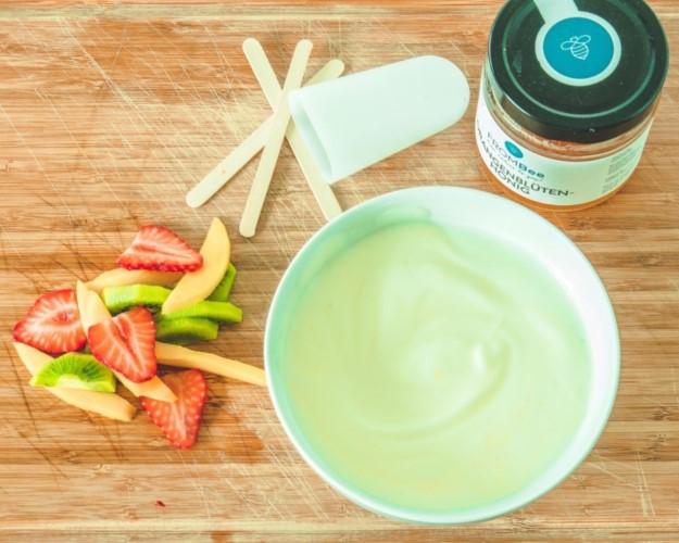 Joghurt frucht popsicles honig Orangenblütenhonig Obst