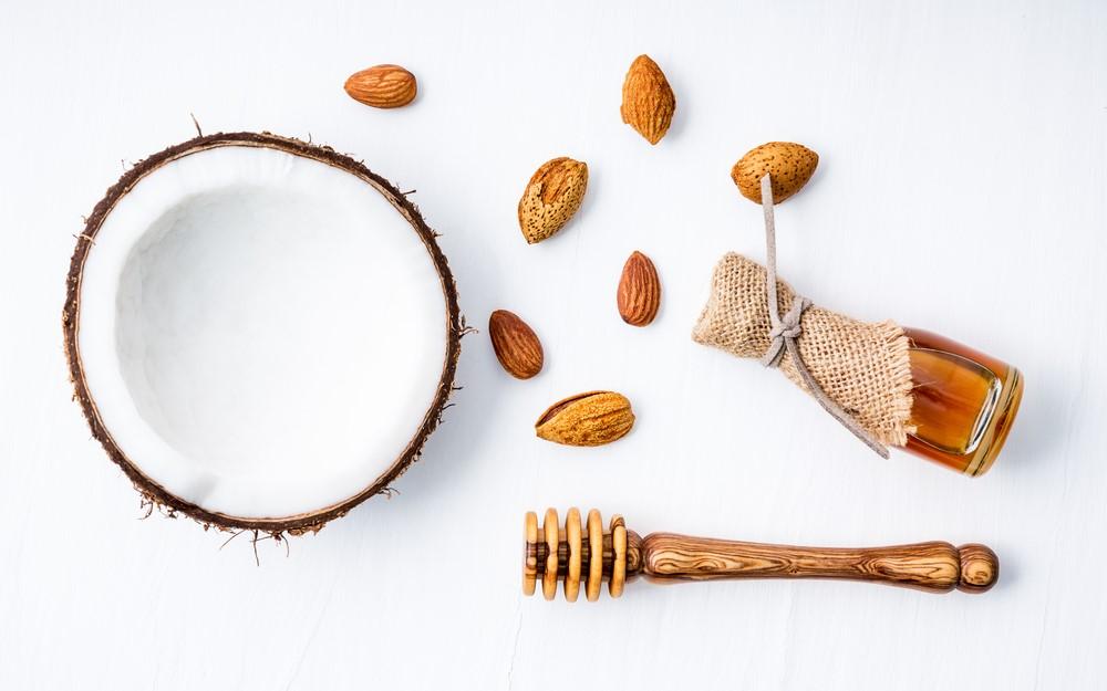 kokos honig peeling scrub body wohltuend pflegend mandeln
