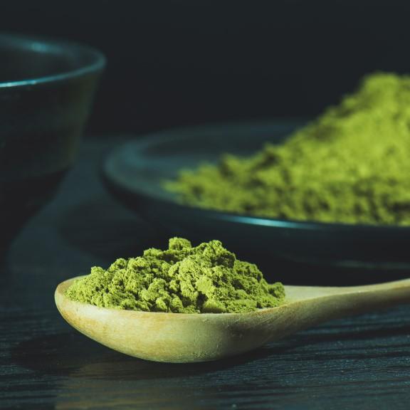 Matcha löffel grün tee