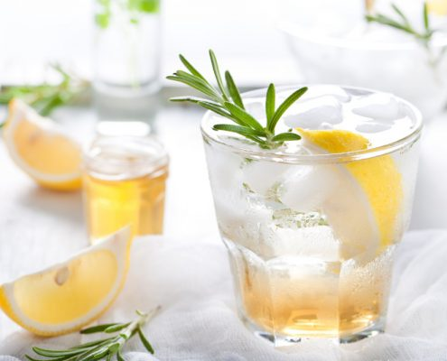 Frombee bees knees Getränk Honig Gin