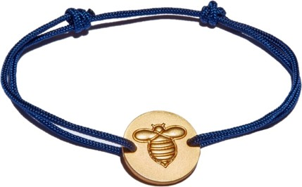 Frombee Armband Blau Gold