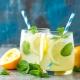 Zitronen Limonade Minze Honig