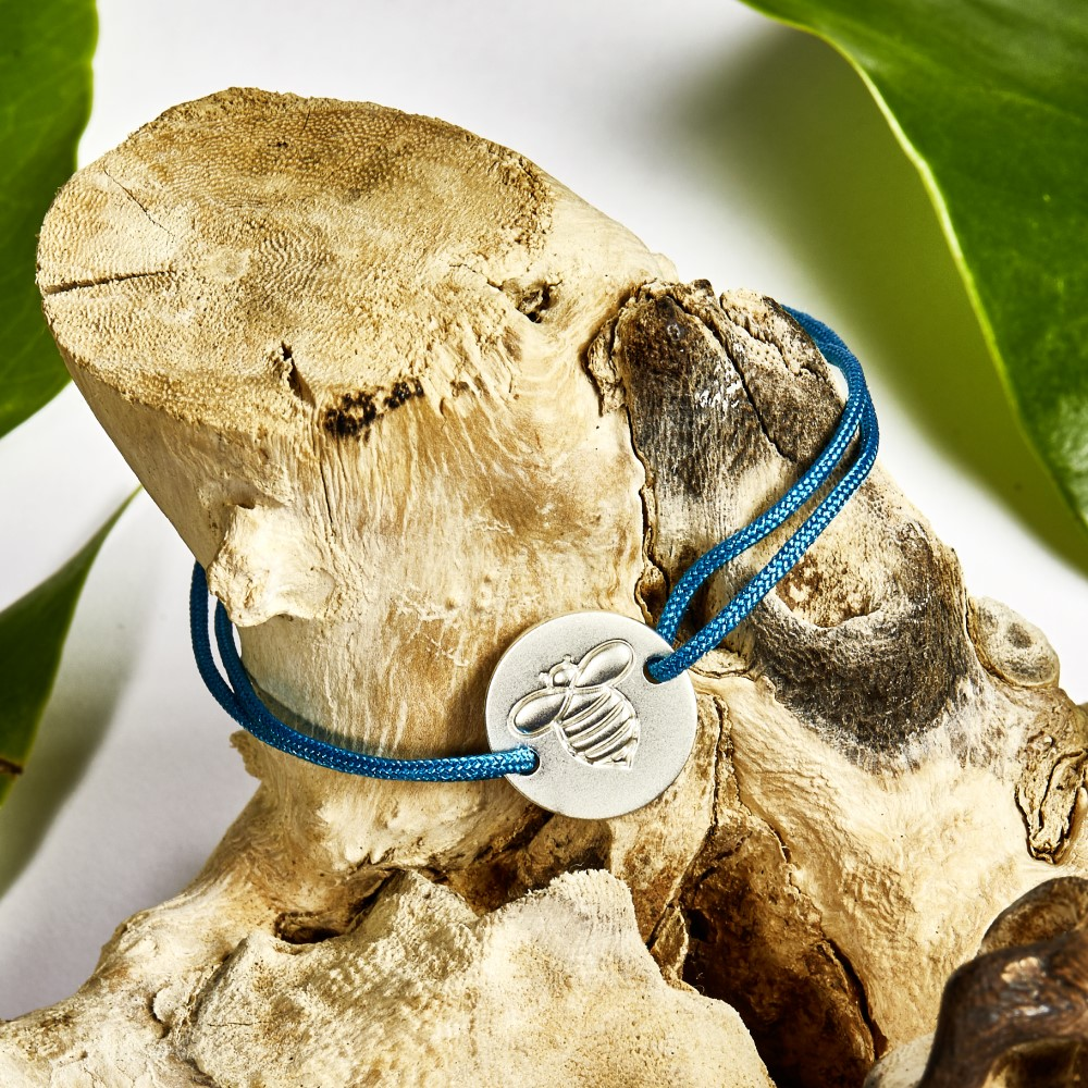 Frombee Armband Petroleum Silber